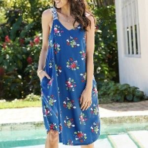 MATILDA JANE PERFECTLY POLISHED BLUE FLORAL DRESS